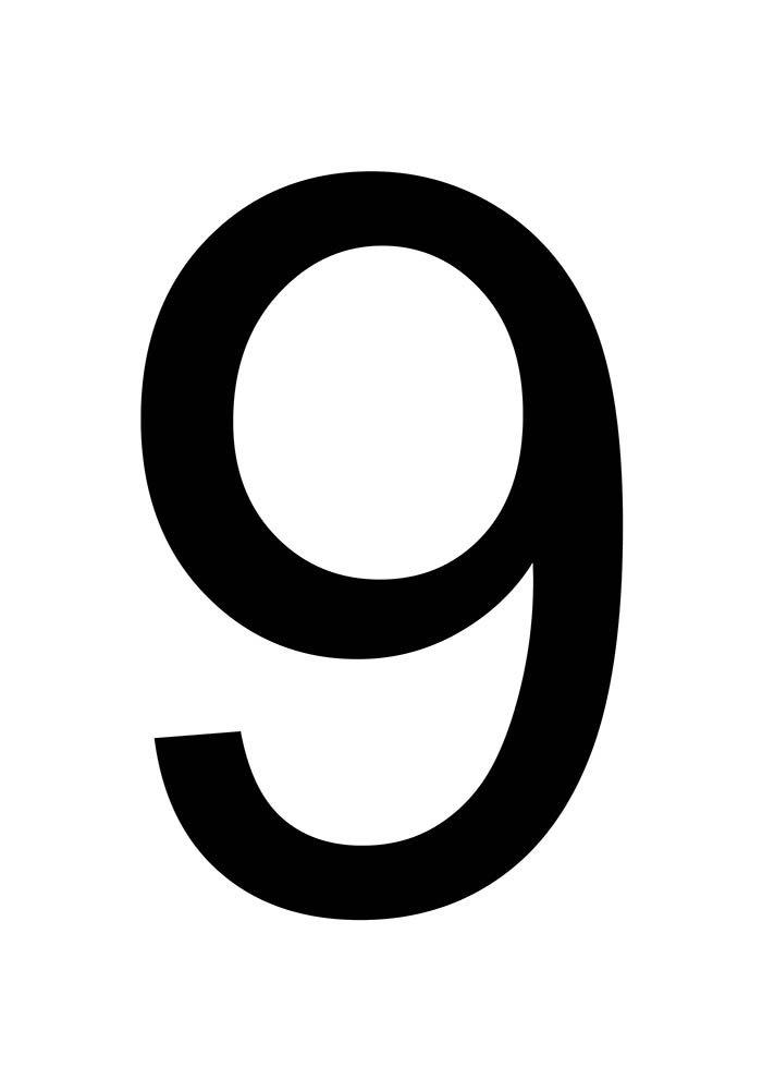 número 9 para imprimir