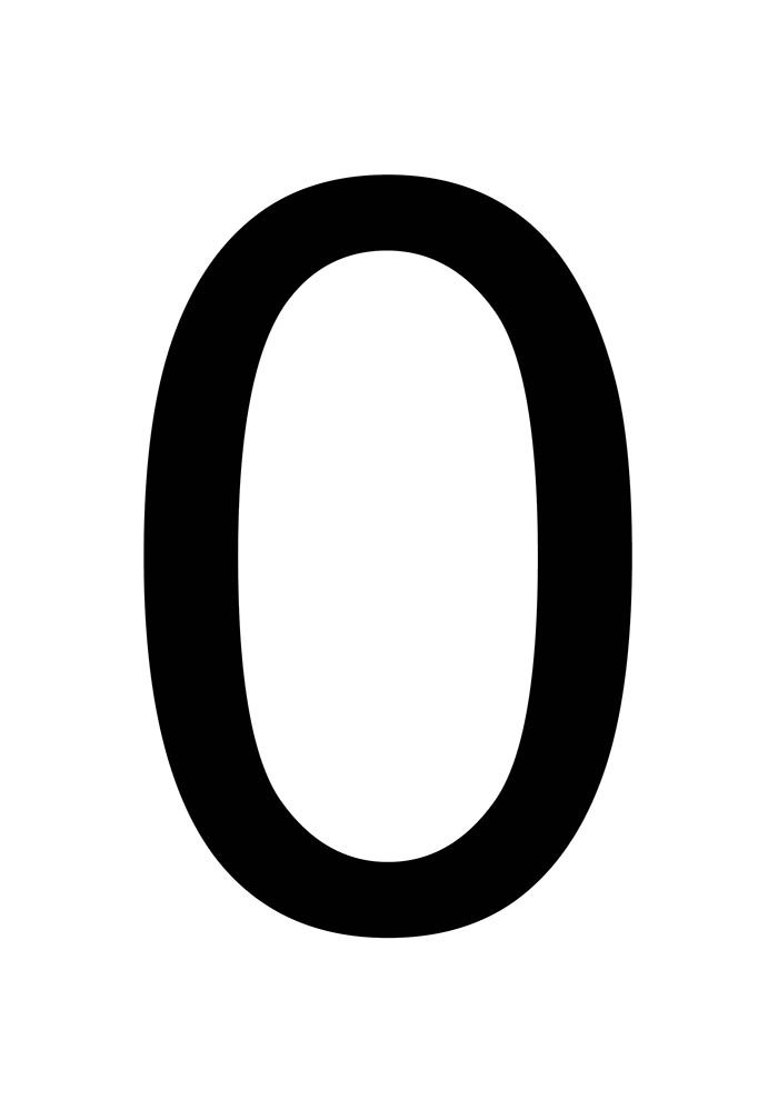 número zero para imprimir