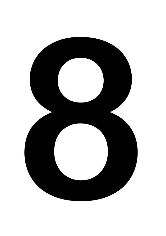 número oito para imprimir