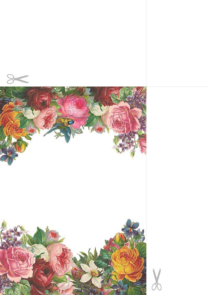 Papel de carta com flores para imprimir1