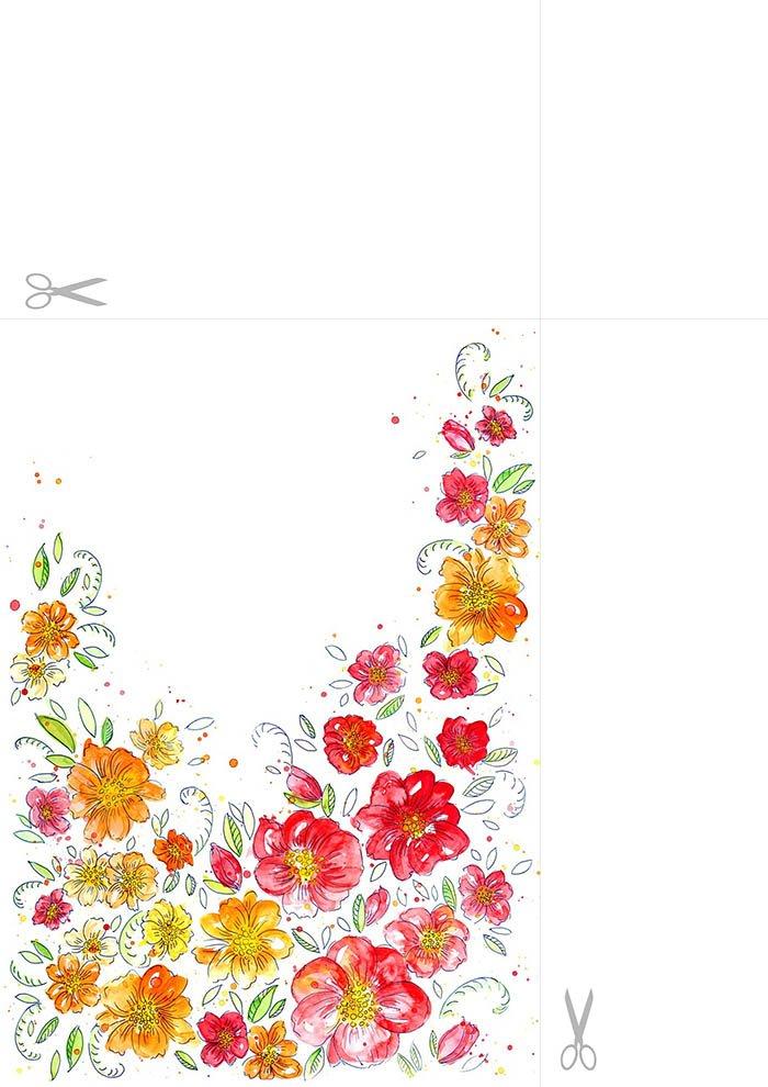 Papel de carta com flores