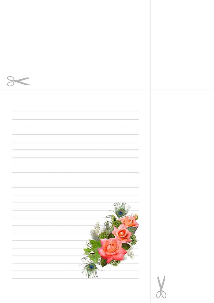 Papel de carta com linhas para imprimir