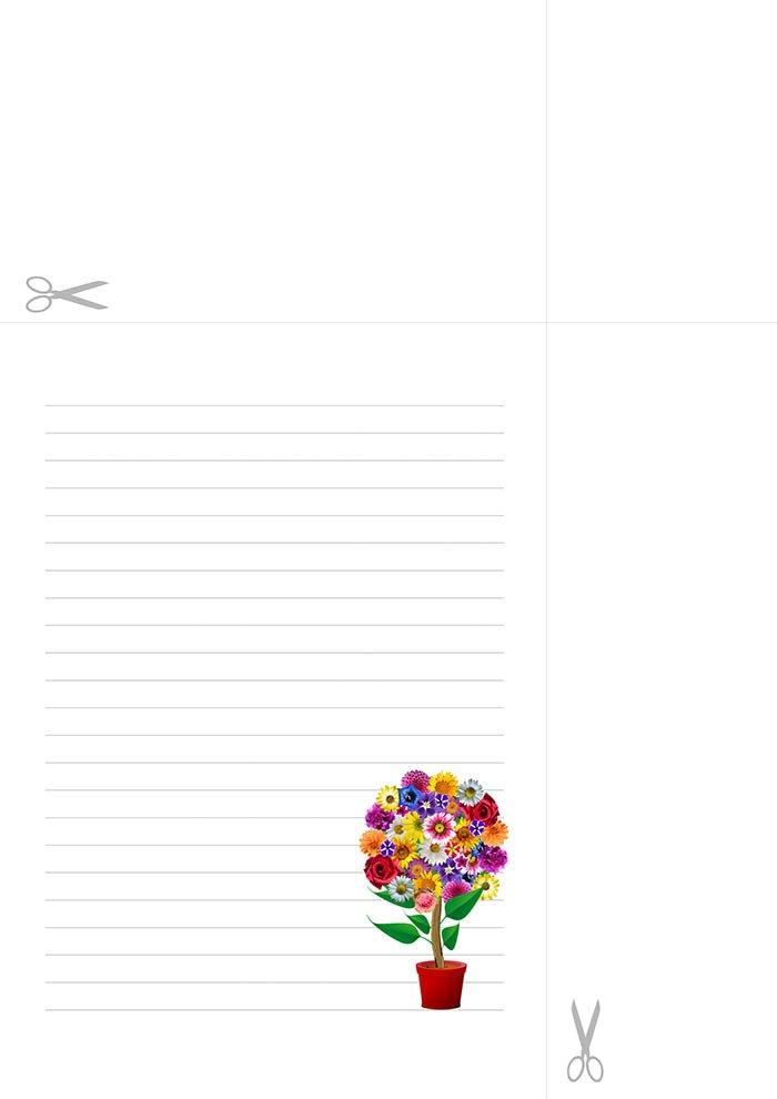 Papel de carta com linhas