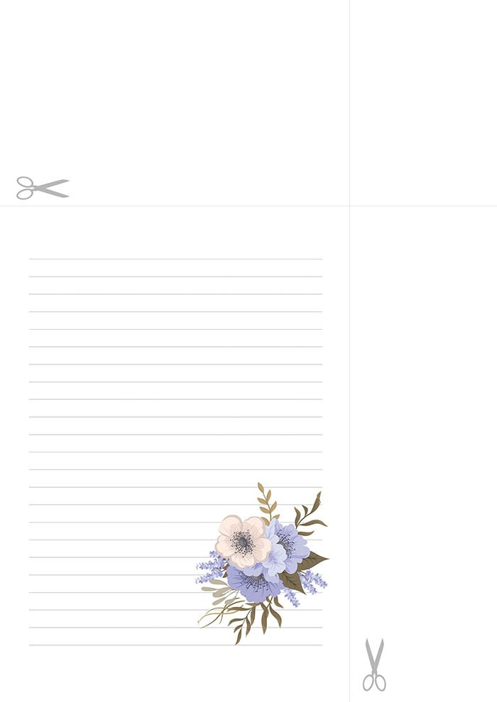 Papel de carta decorado para escrever