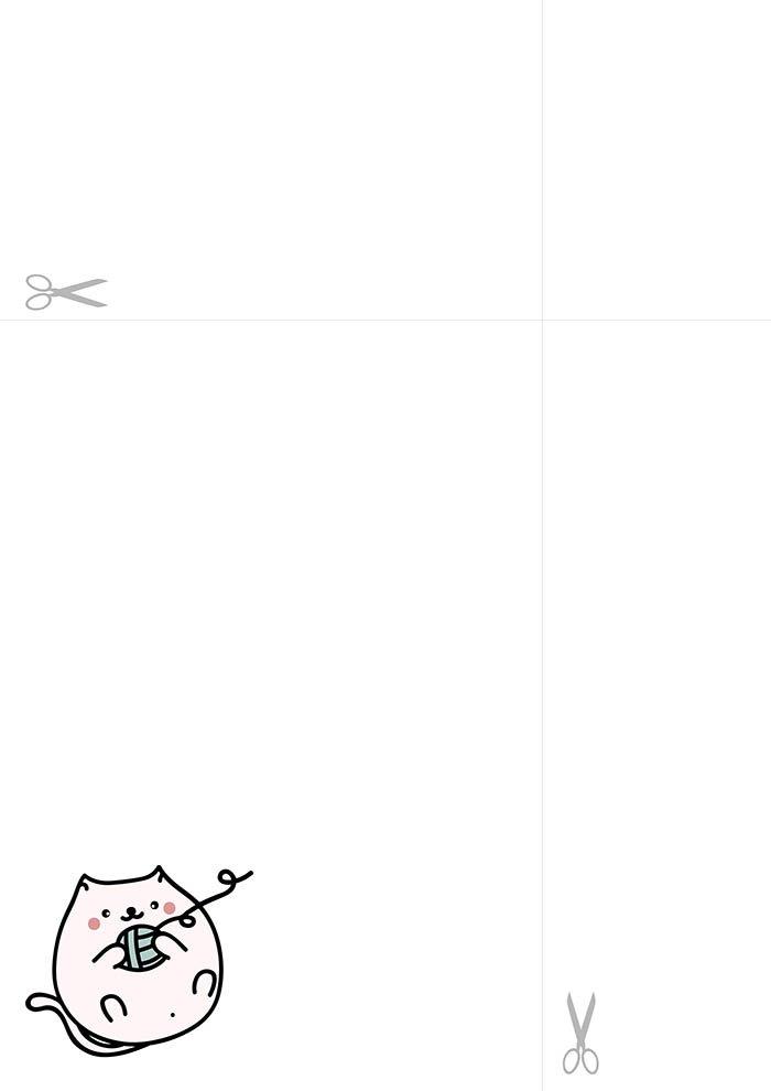 papel de carta kawaii