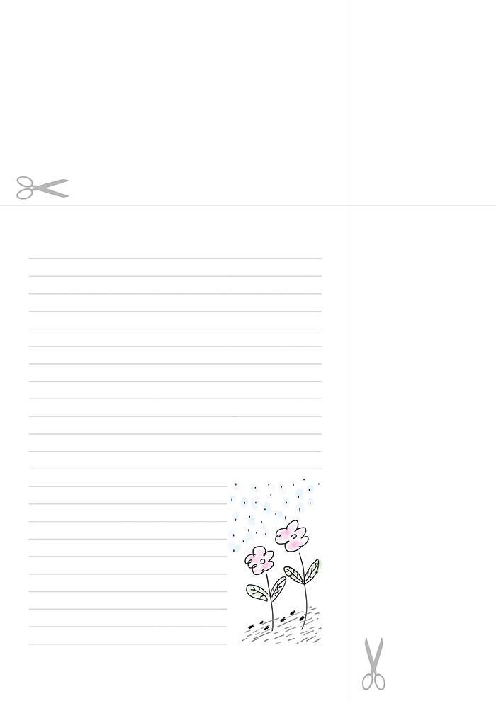 Papel de carta para escrever