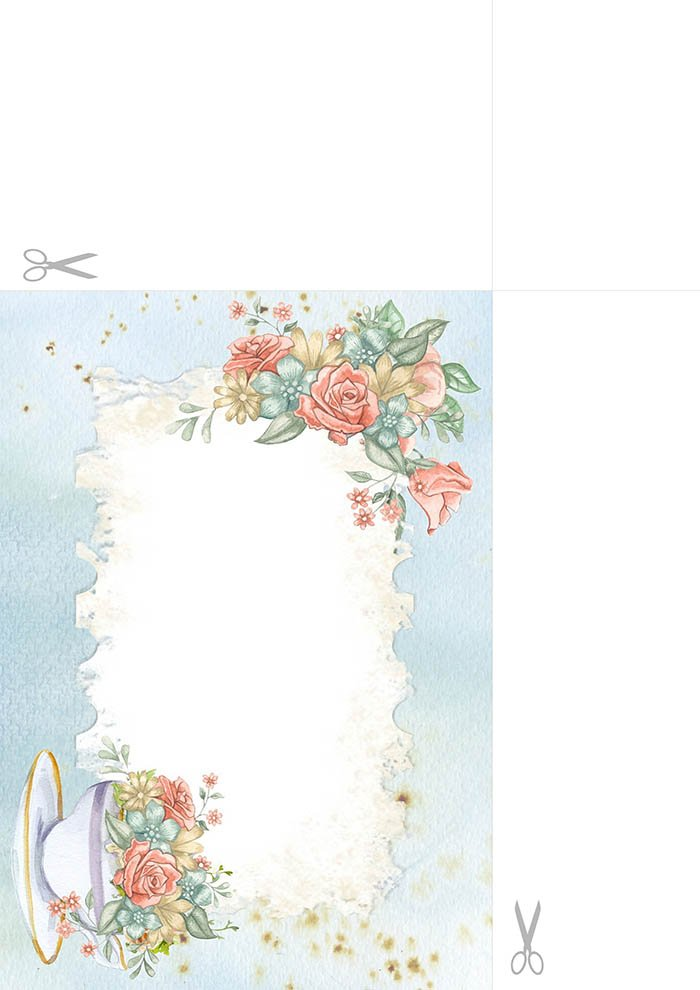 Papel de carta para imprimir com flores