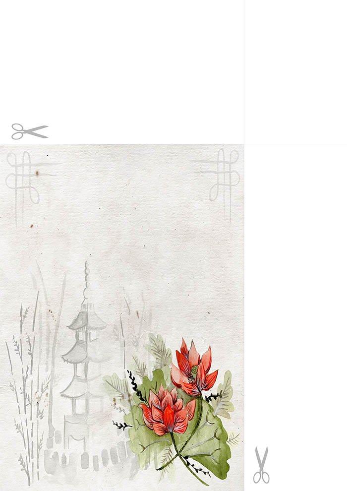 Papel de carta para imprimir decorado