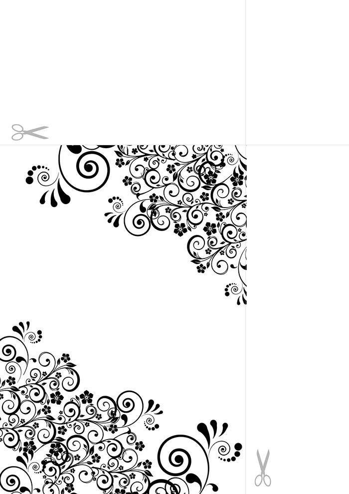 Papel de carta para imprimir preto e branco