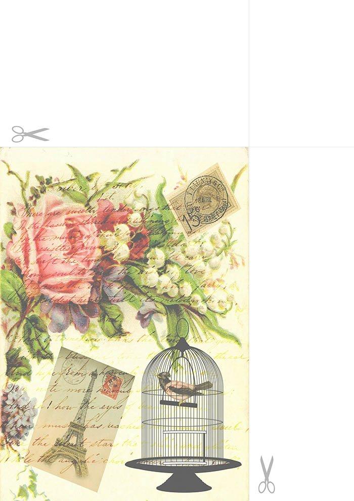 Papel de carta romântico para imprimir