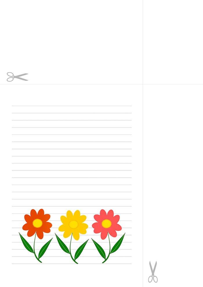 Papel decorado para carta