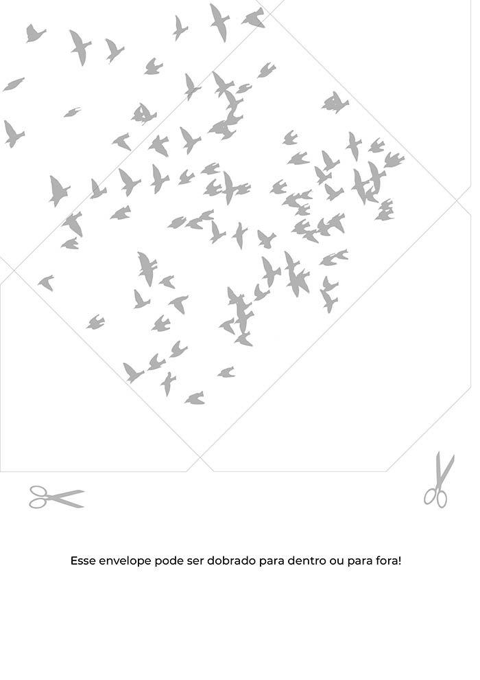 envelope pássaros