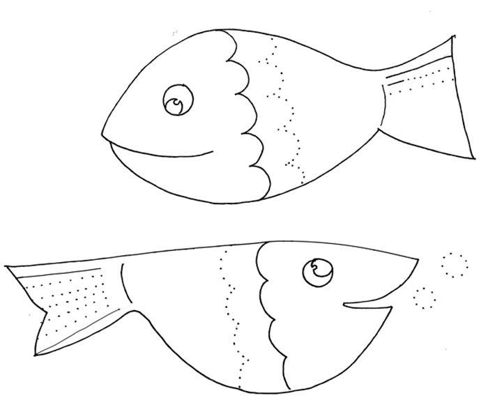 Peixe para colorir crianças