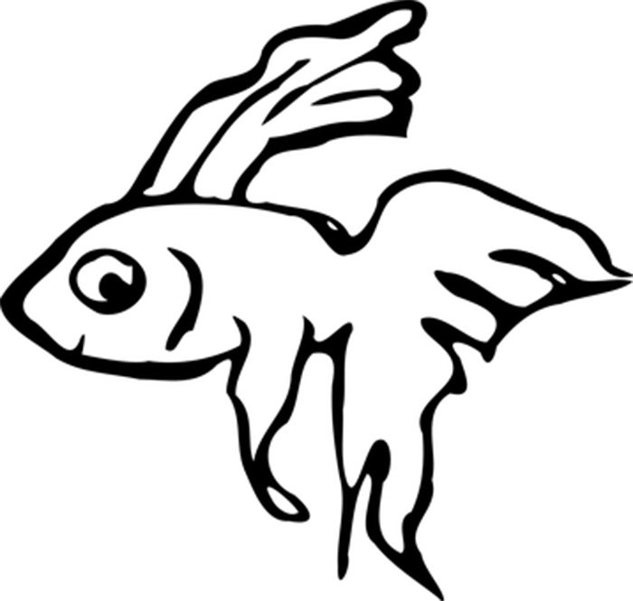 Peixinho feliz para colorir