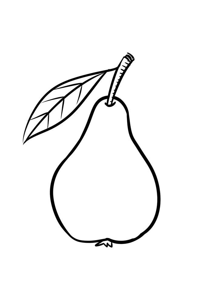 desenho de pêra para colorir