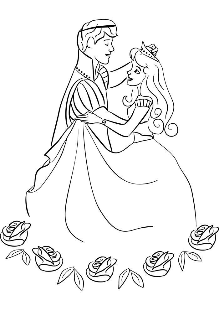 principe e princesa para colorir