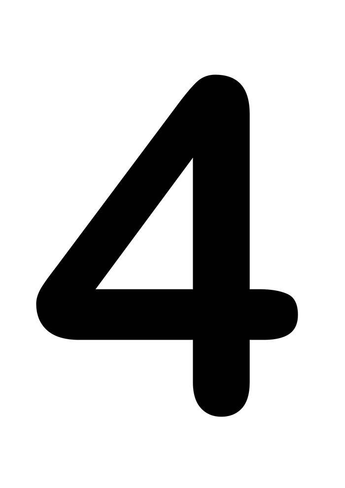 número quatro para imprimir