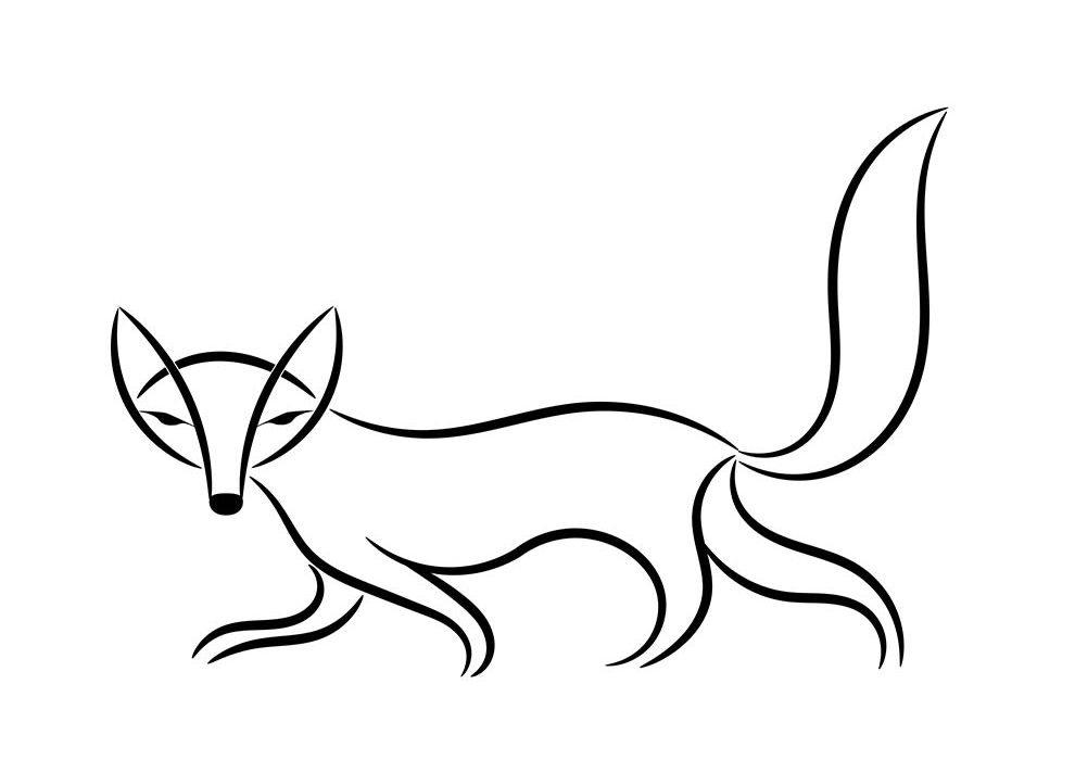 raposa para colorir