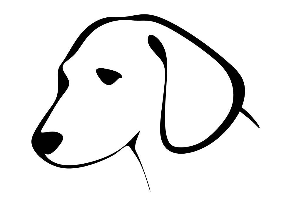 rosto de cachorro para colorir