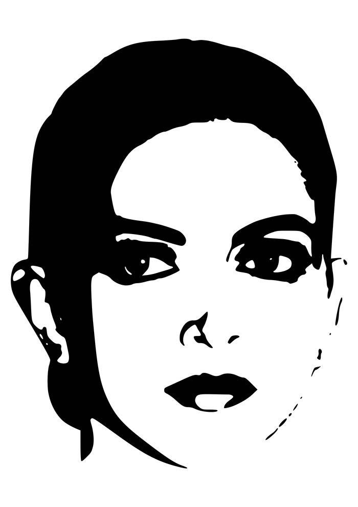 rosto feminino tumblr