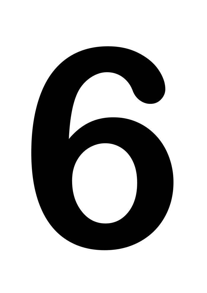 número seis para imprimir