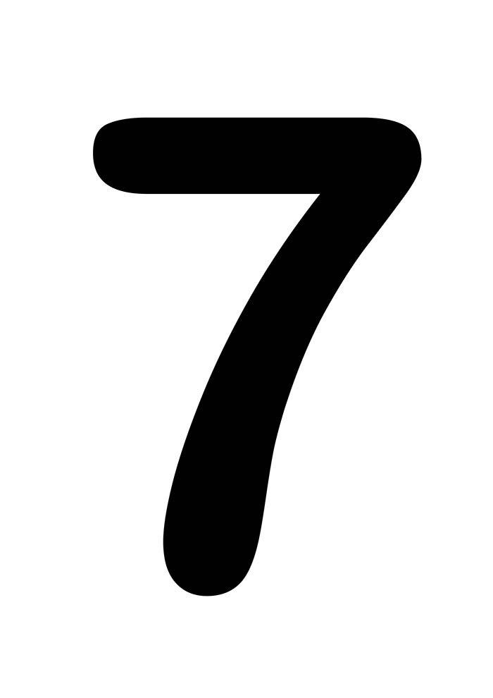 número sete para imprimir