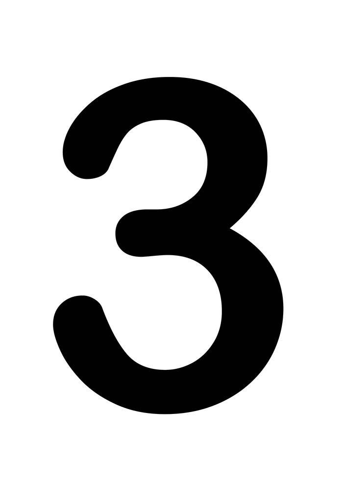 número três para imprimir