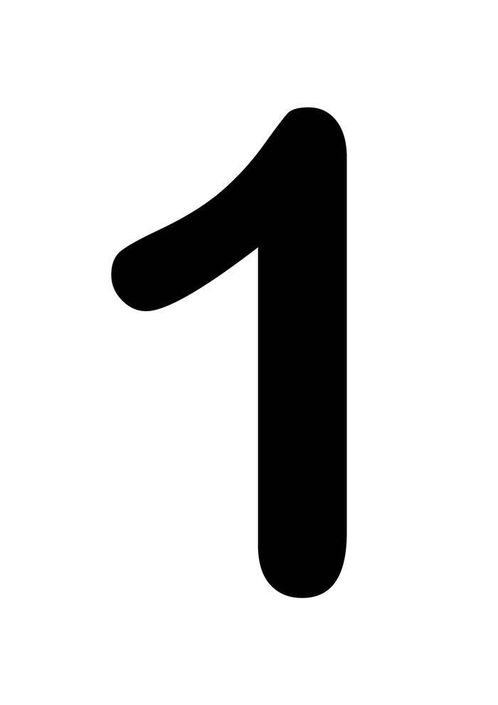 número um para imprimir