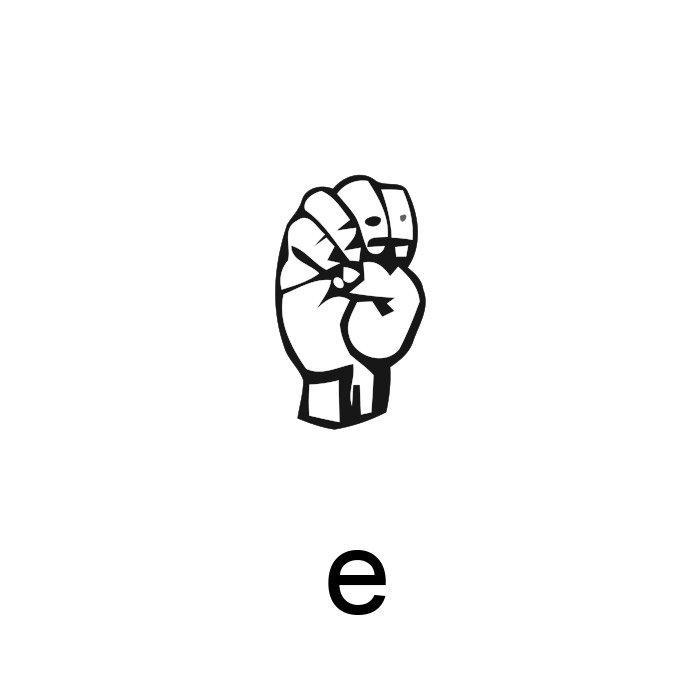 alfabeto em libras letra e