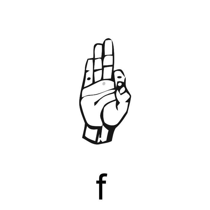 alfabeto em libras letra f