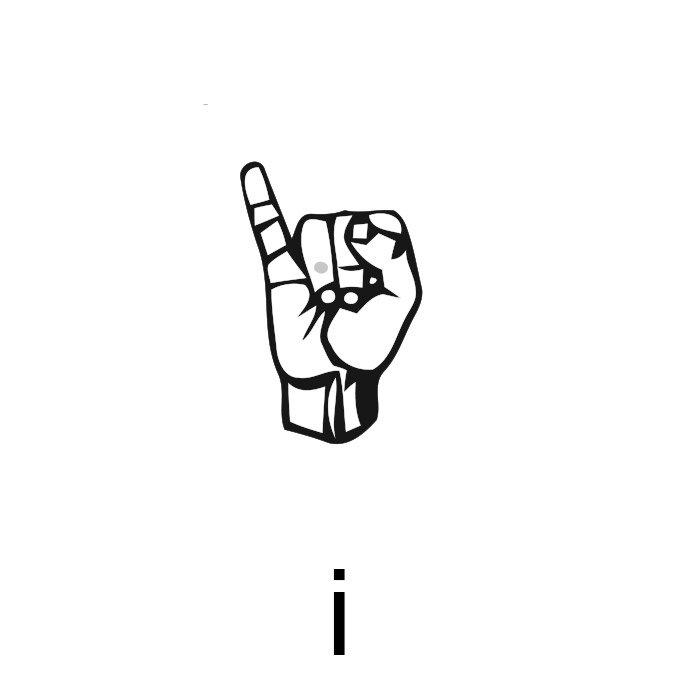 alfabeto em libras letra i