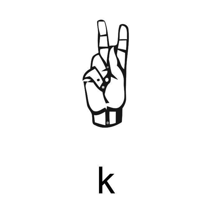alfabeto em libras letra k