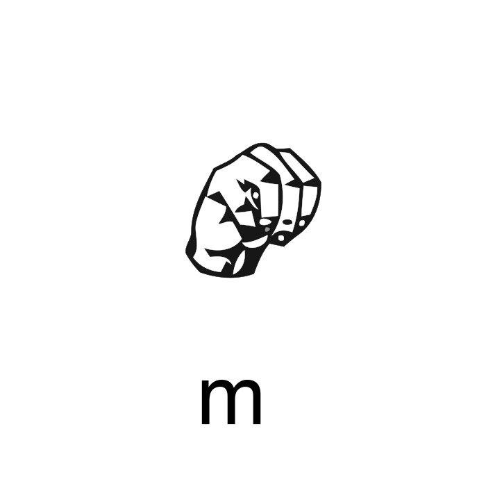 alfabeto em libras letra m