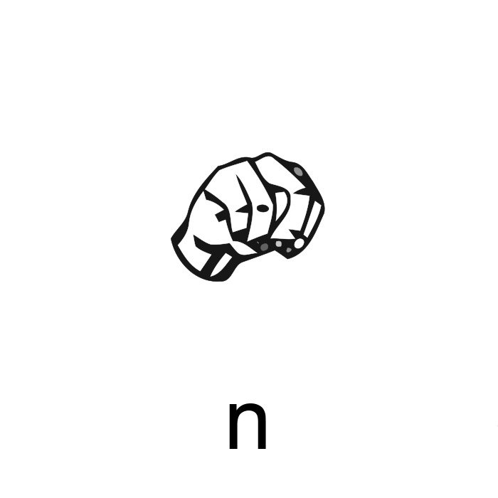 alfabeto em libras letra n