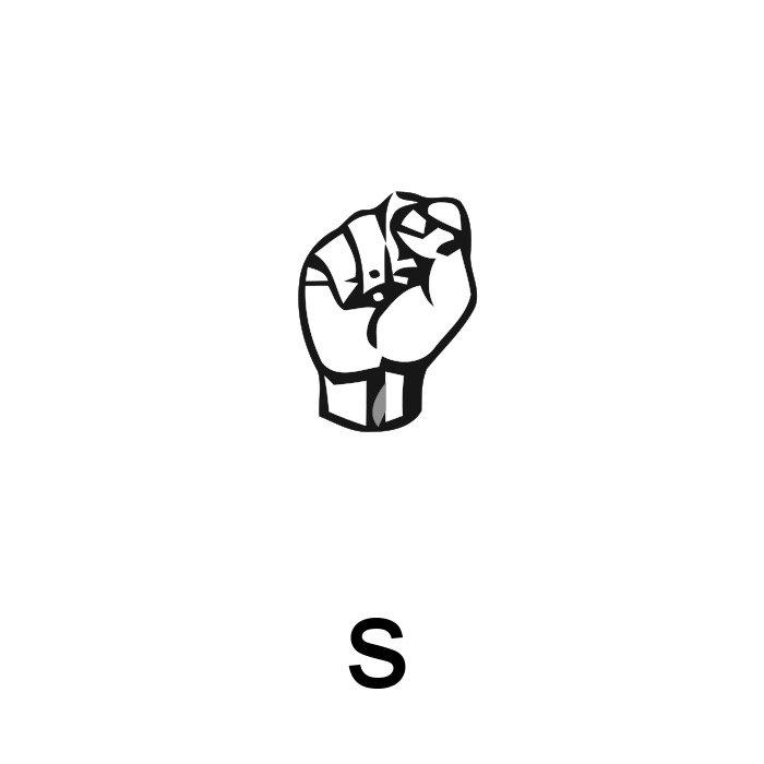 alfabeto em libras letra s