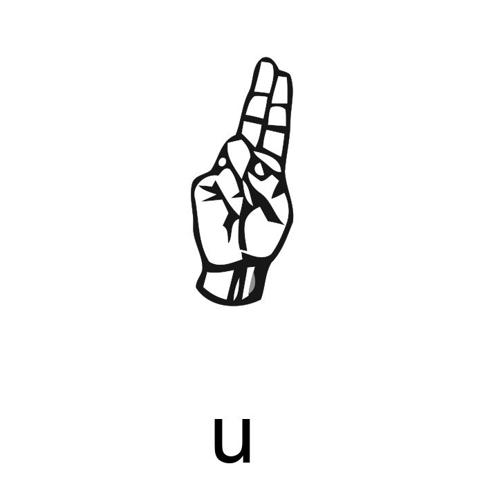 alfabeto em libras letra u