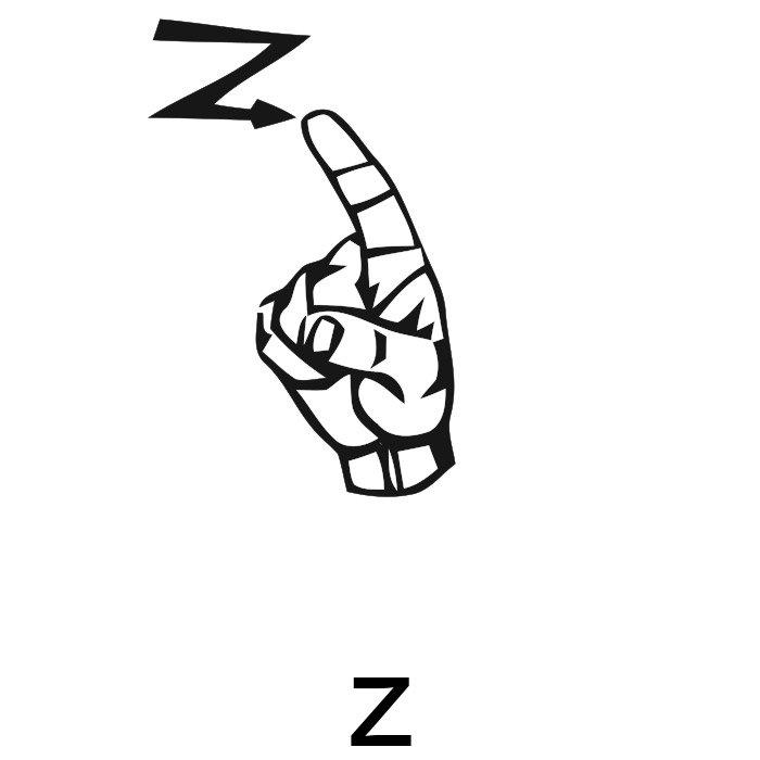 alfabeto em libras letra z
