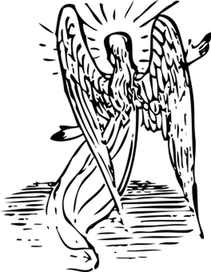 anja com asas para colorir