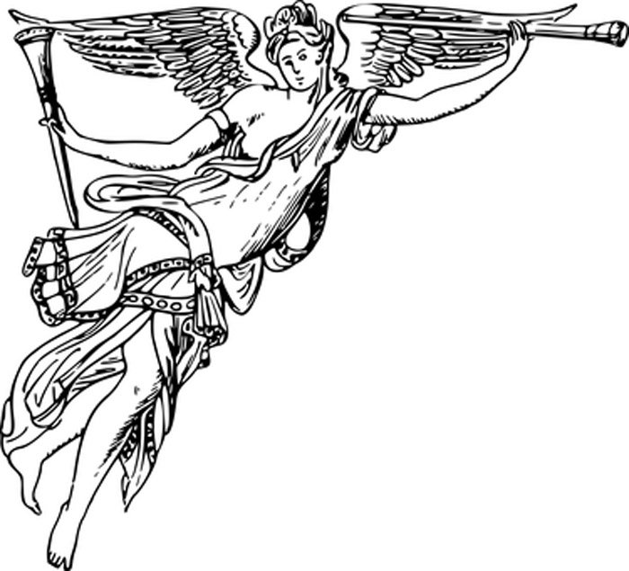 anjo da guarda para colorir