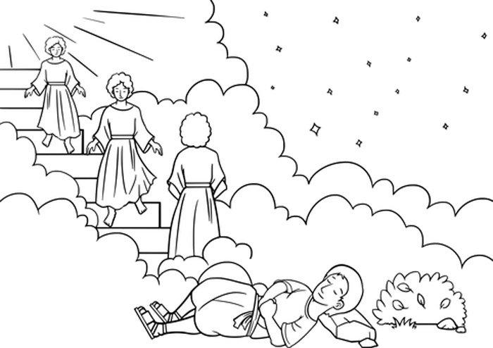 anjo jacob para colorir
