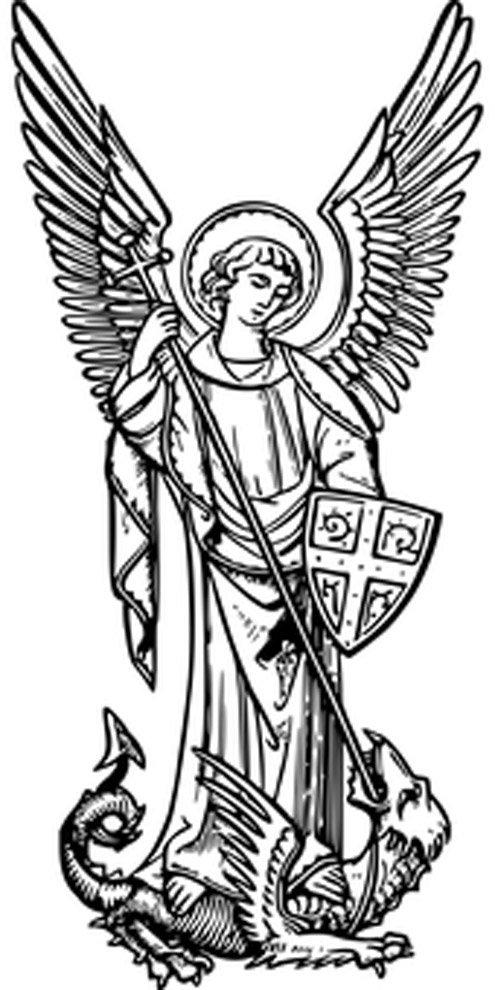 anjo rafael para colorir