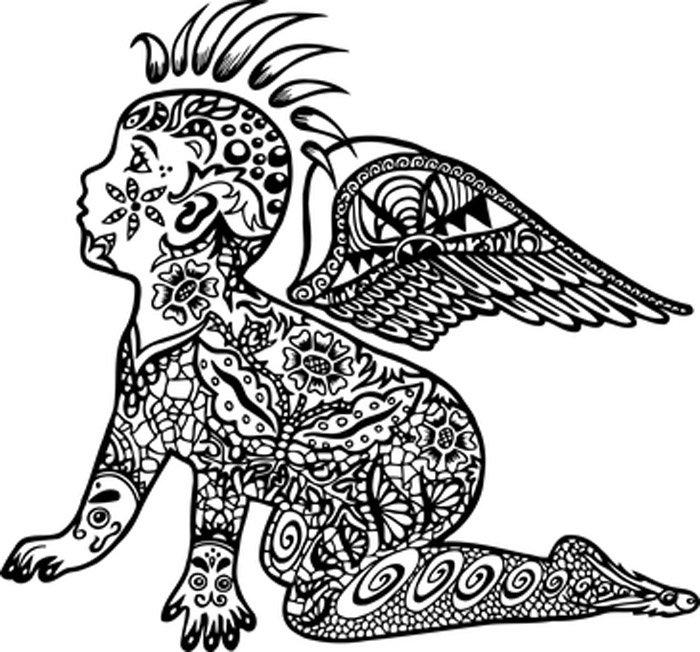 anjo tatuado