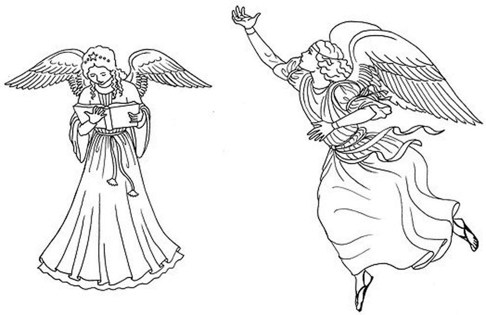 anjos de proteção para colorir