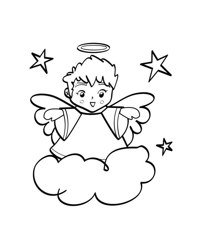 25 Desenhos De Anjos Para Imprimir E Colorir Gratis
