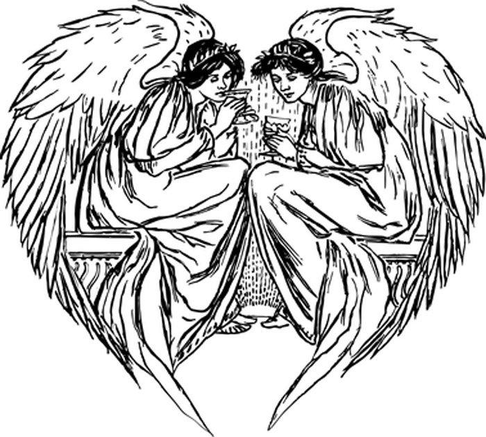 anjos para imprimir e colorir