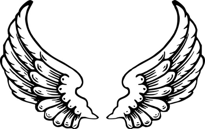 asas anjo para imprimir