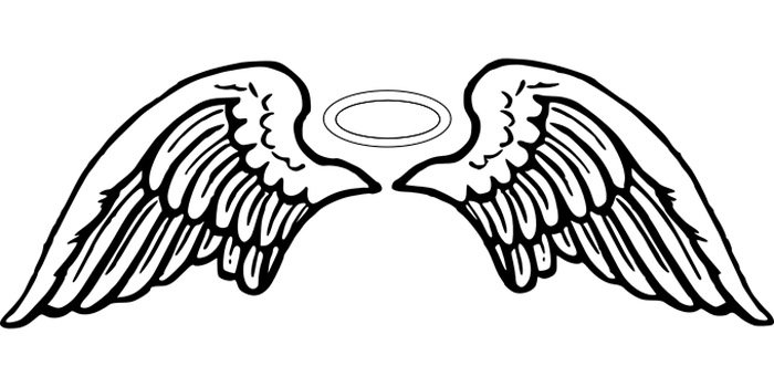 asas de anjo para colorir