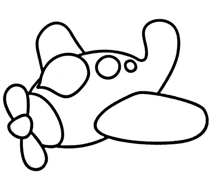 avião para colorir infantil