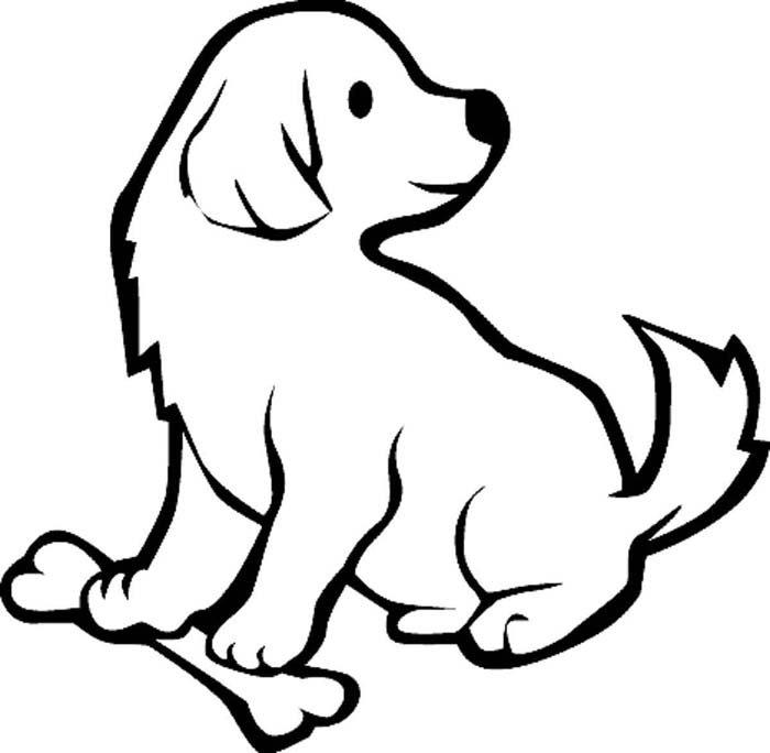 cachorro com osso olhando para tras