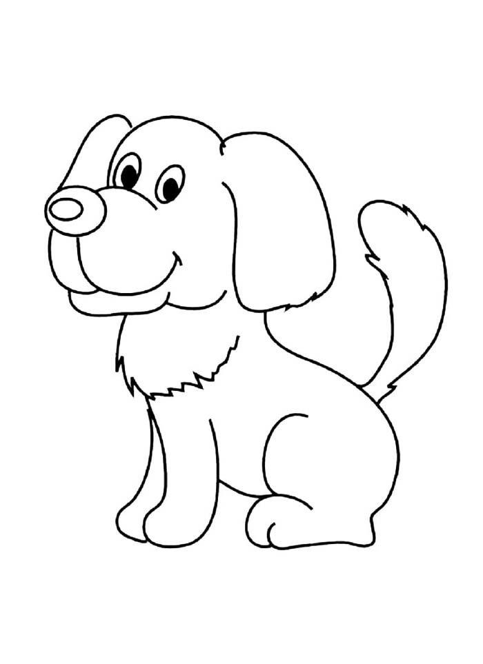 cachorro sentado de lado